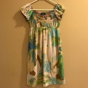 ABG Dress Peasant Watercolor Abstract Pattern